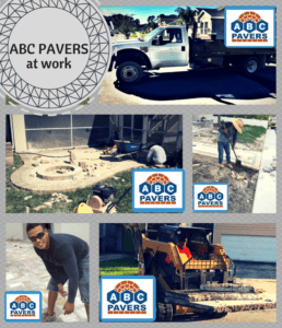 Pavers Travertine outdoor installation How to Gallery by contractor ABC PAVERS